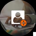 L'icône de créer un profil