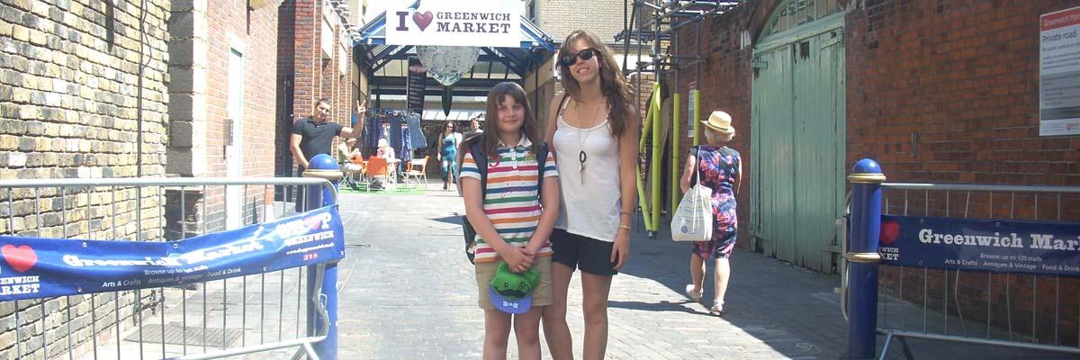 Ana at London's Greenwich Market