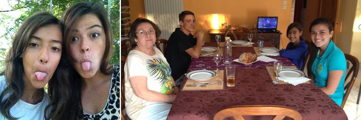 Andrea y su familia de au pair