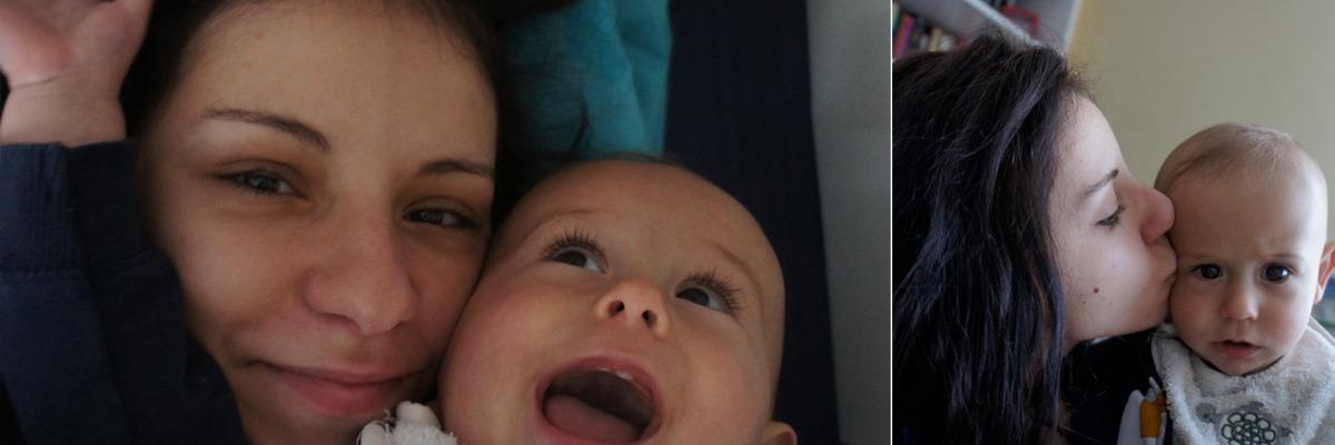 Beatriz con su au pair baby
