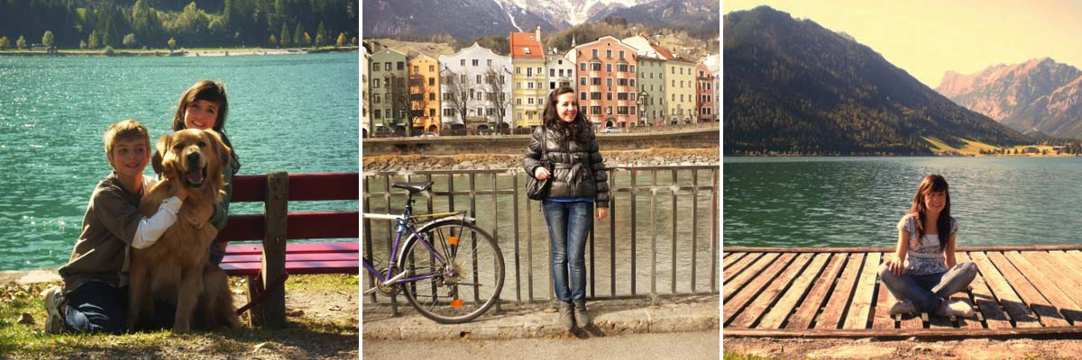 Celeste from Mexico enjoying her time in Austria