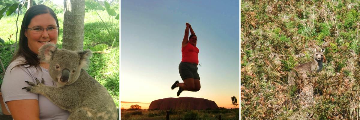 Claire erlebt wunderbare Momente in Australien
