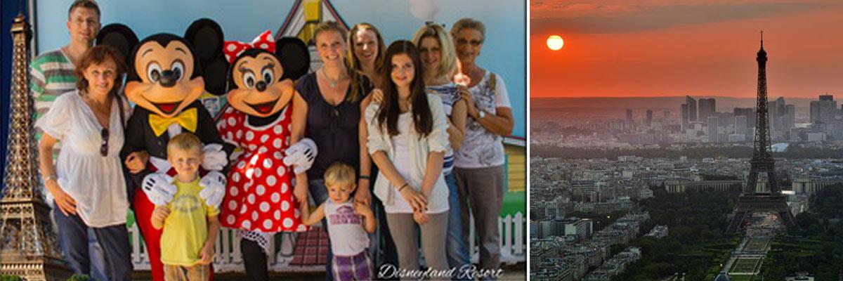 Alexandra in Paris und der Eiffelturm