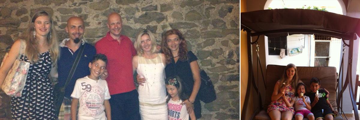 Andrea con la sua famiglia