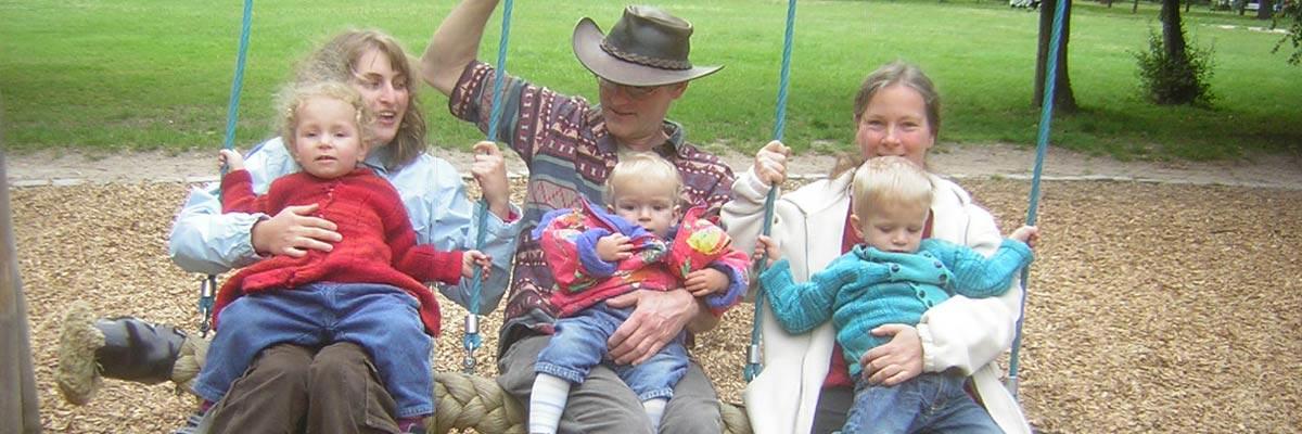 Gastfamilie von Birgit mit ihren 3 Kindern in Deutschland