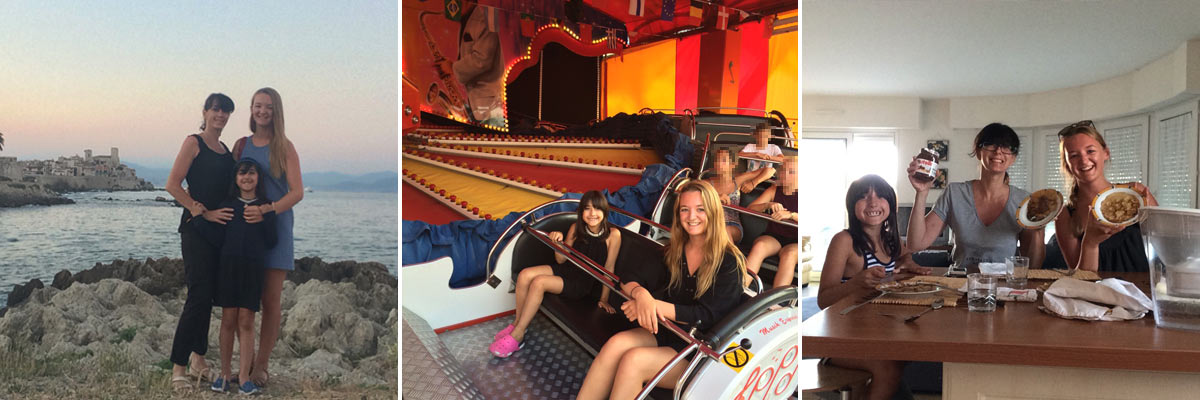 Giulia had a lot of fun with her au pair