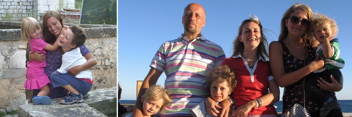 Ilaria con la sua famiglia e la sua ragazza alla pari