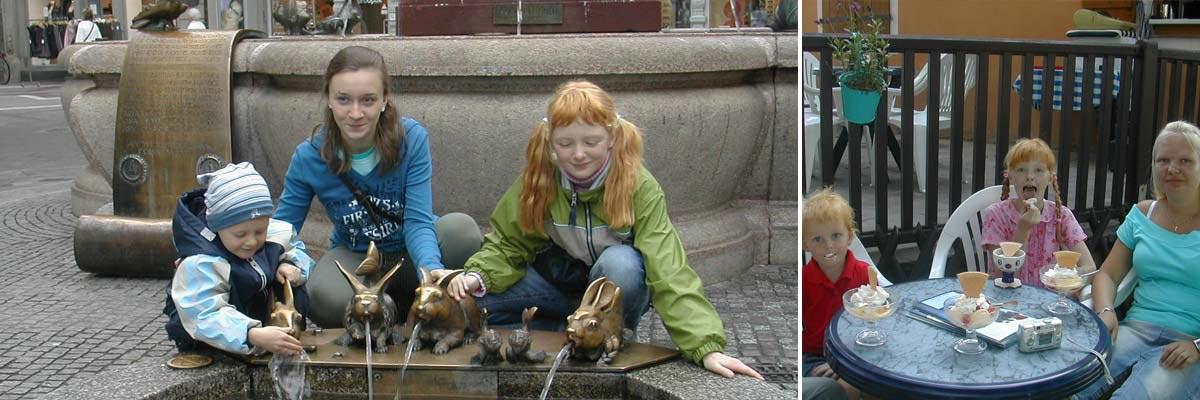 Susanne Liebsch's Kinder mit ihrem Au-pair