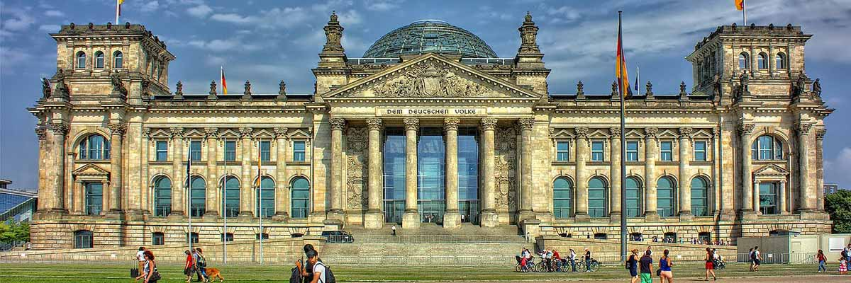 People visiting the German Bundestag