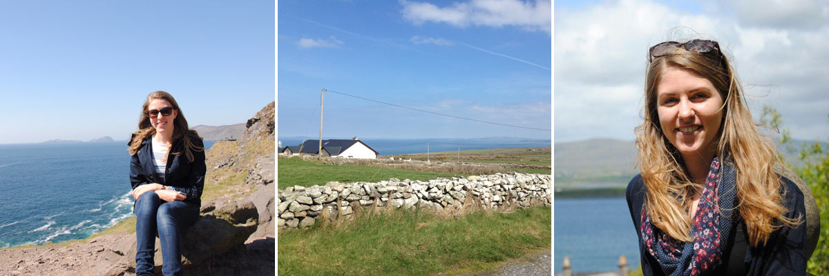 Au pair Jana in some spots of beautiful Irish nature.