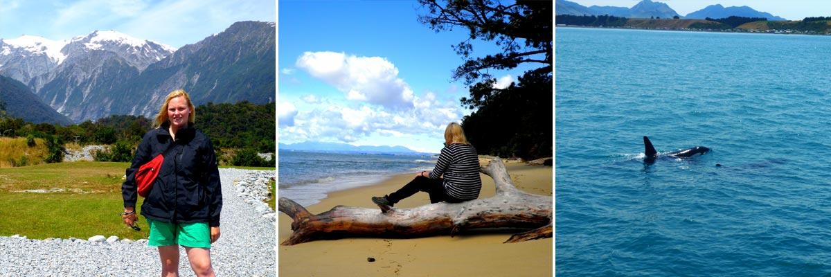 Jennifer reiste auch viel rum in Neuseeland