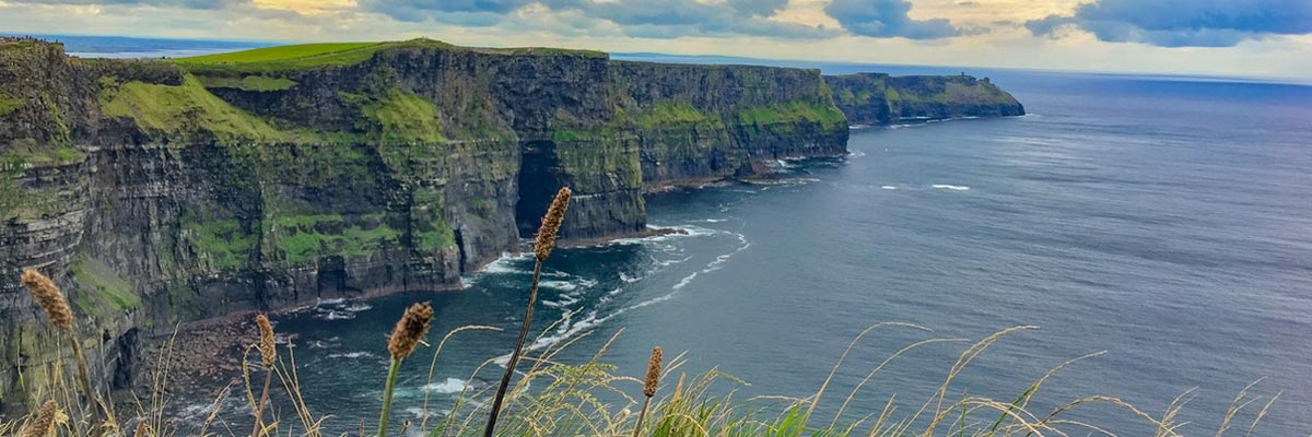 Irish cliffs at the ocean