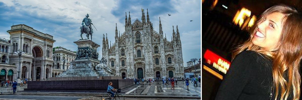 Melania e Cattedrale a Milano