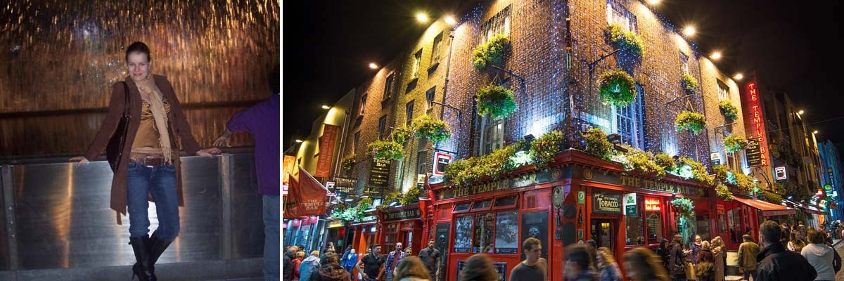 Rita in Irland und ein Irish Pub am Abend