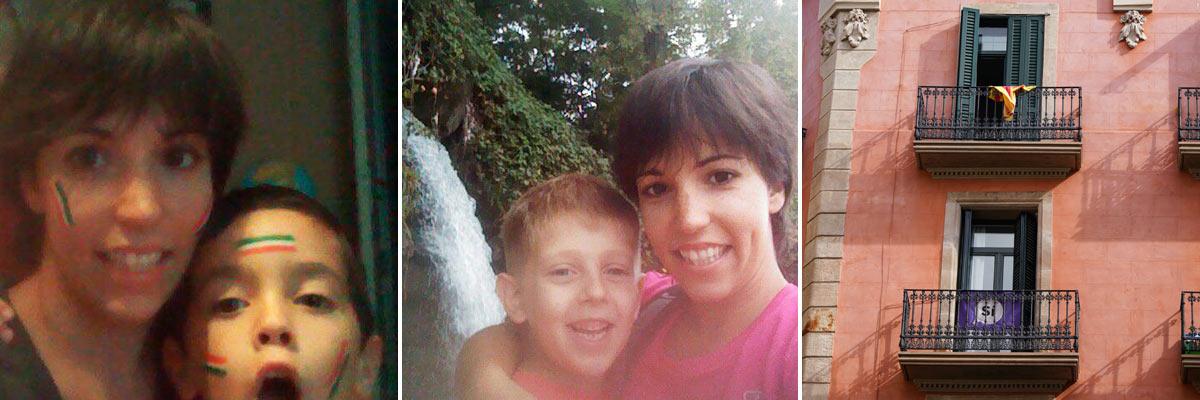 Stefania con il suo ragazzo alla pari e un tipico edificio in Italia