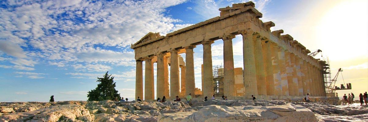 Ein alter Tempel in Athen