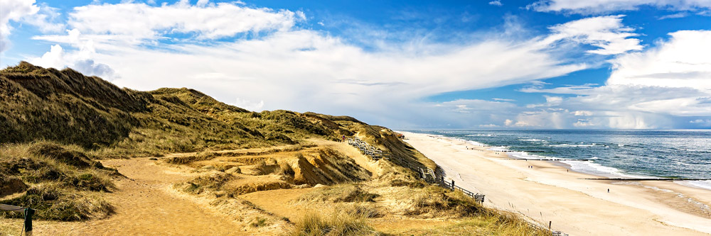 Dunes, beach and sea in Denmark