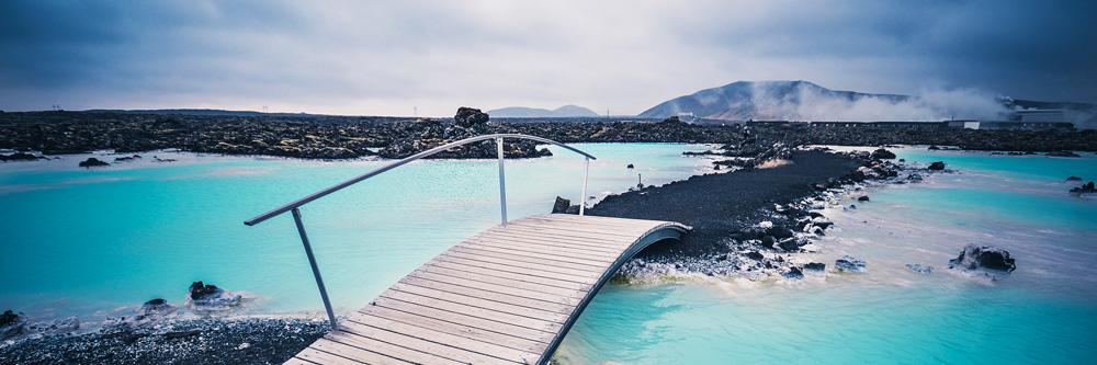 Lagune bei Reykjavík