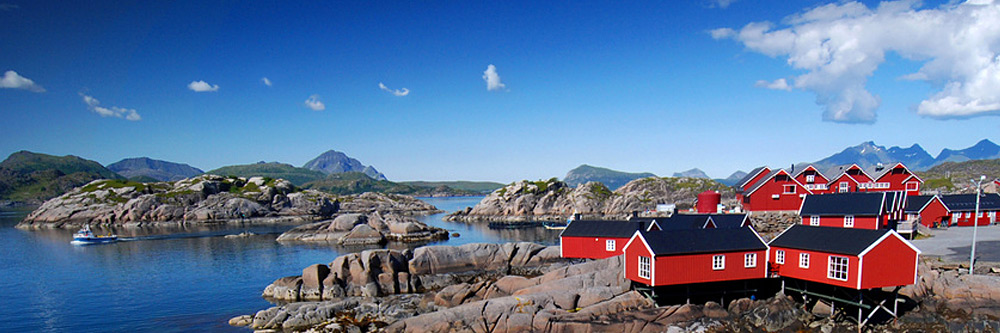 Fishing village on the Norwegian coast