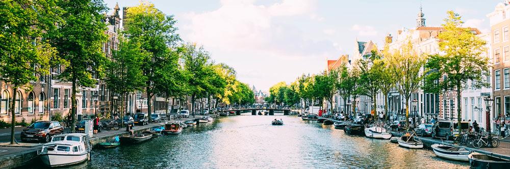 El canal de Amsterdam