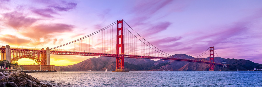 Il Golden Gate Bridge a San Francisco