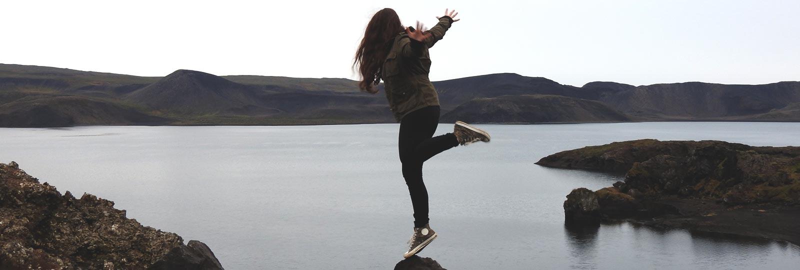 Saskia in Iceland