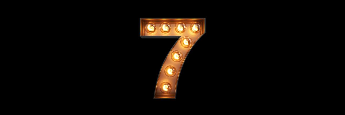 numero 7 illuminato