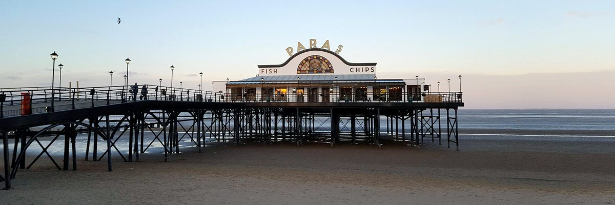 Fish and Chips Restaurant on Cleethorpes pier