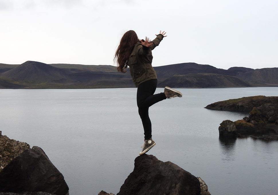 Saskia en Islandia