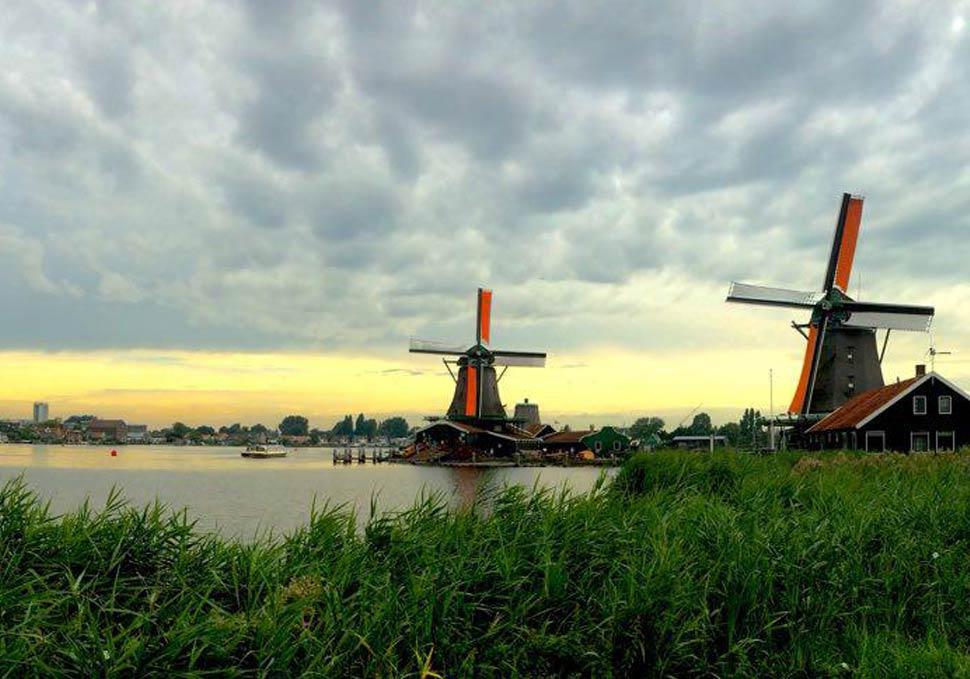Mulins à vent aux Pays-Bas