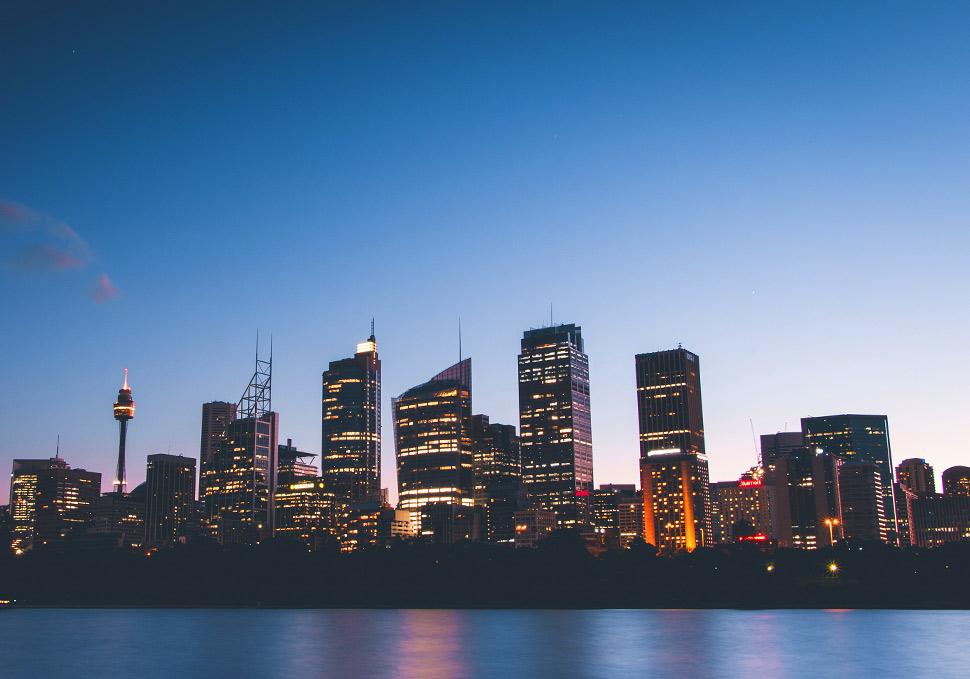 Vistas del horizonte en Sídney