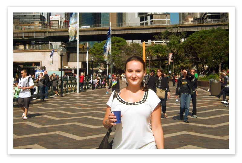 Young woman in an Australian city