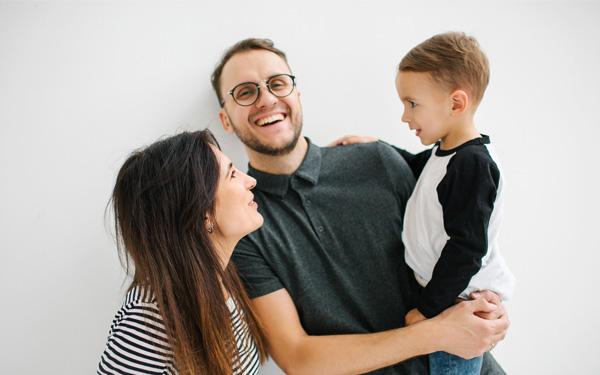 Eine junge Familie