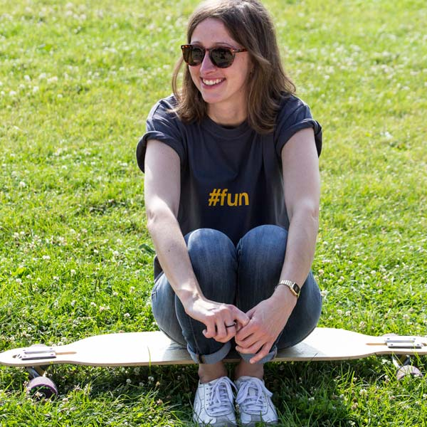 Chilling on the longboard