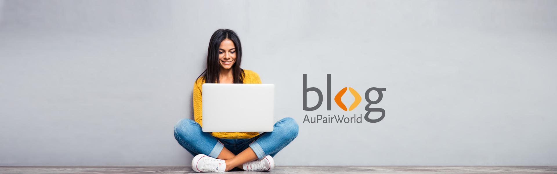 AuPairWorld Blog – Junge Frau mit Laptop