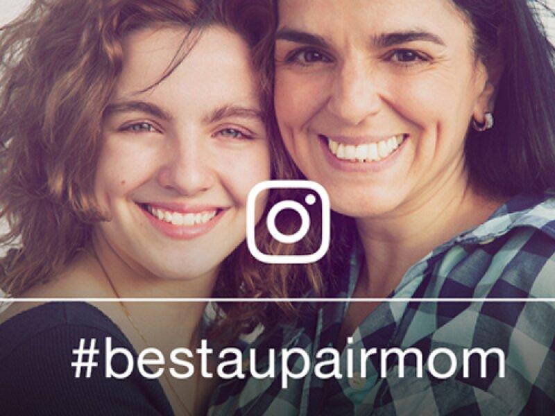 #bestaupairmom - Au-pair lacht mit seiner Gastmutter