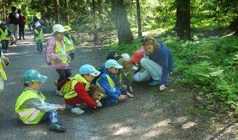 Clara ensemble avec des enfants dans la forêt
