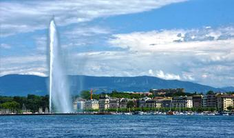 Lake Geneva near Geneva, Switzerland