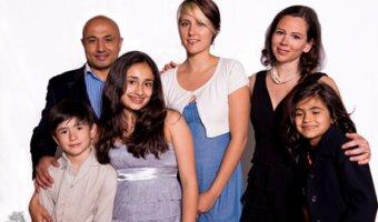 anne-France et sa famille