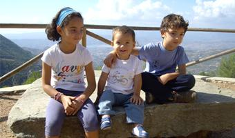Los hijos de Olga con una amplia vista.