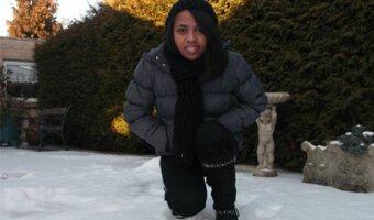 Malalatiana dans la neige