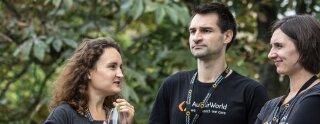 Denis, Michael y Ann-Kristin de AuPairWorld comparten sus impresiones sobre el evento