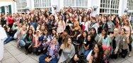 Foto de grupo de las au pairs asistentes a nuestra primera reunión en Frankfurt