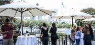 Vista de Frankfurt desde la terraza del club